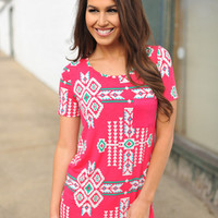 PINK TRIBAL TUNIC