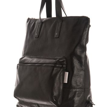 Venice-Large Soft Textured Leather Backpack/Briefcase