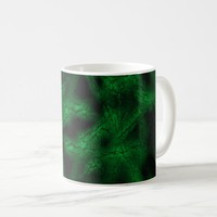 Green fantasy pattern coffee mug