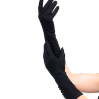 Sure Fit Black Button Long Sleeved Texting Gloves