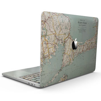 The Vintage Map of Cape Cod  - MacBook Pro with Touch Bar Skin Kit