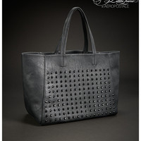 Womens Pretty Little Liars Hanna Studded Faux Leather Tote Bag