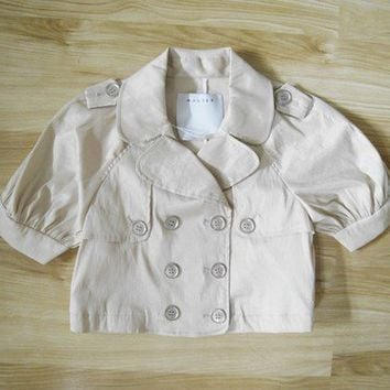 Satin Motorcycle Jacket with Short Sleeves by Walter - NWT - Size US 8