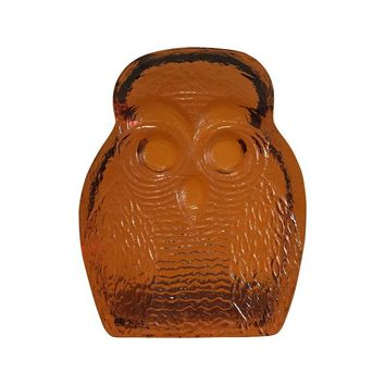 Pre-owned Blenko Art Glass Owl