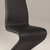 "Black ""Z"" Style Side Chair (Set of 2)"