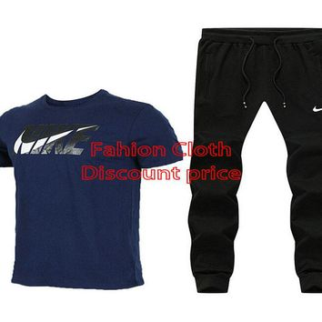 Nike Short Sleeve T-Shirt Trousers 2018 Spring New Style Clothes L--4X X-911925 Blue Black