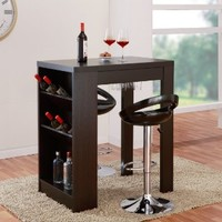 Furniture of America Atlas Console Bar Work Station, Cappuccino Finish
