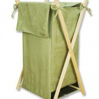 Trend Lab Ultra Suede Hamper in Avocado - 21554 - Bed & Bath