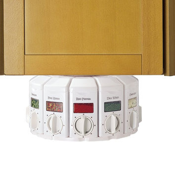 Auto-Measure Automatic Spice Dispenser Organizer Carousel without Spices