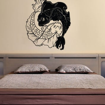Vinyl Wall Decal Sticker Koi Fish Yin Yang #1461