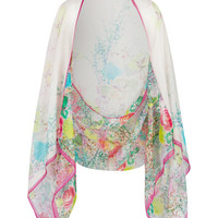 Wispy meadow cape scarf - Light Pink | Scarves | Ted Baker UK