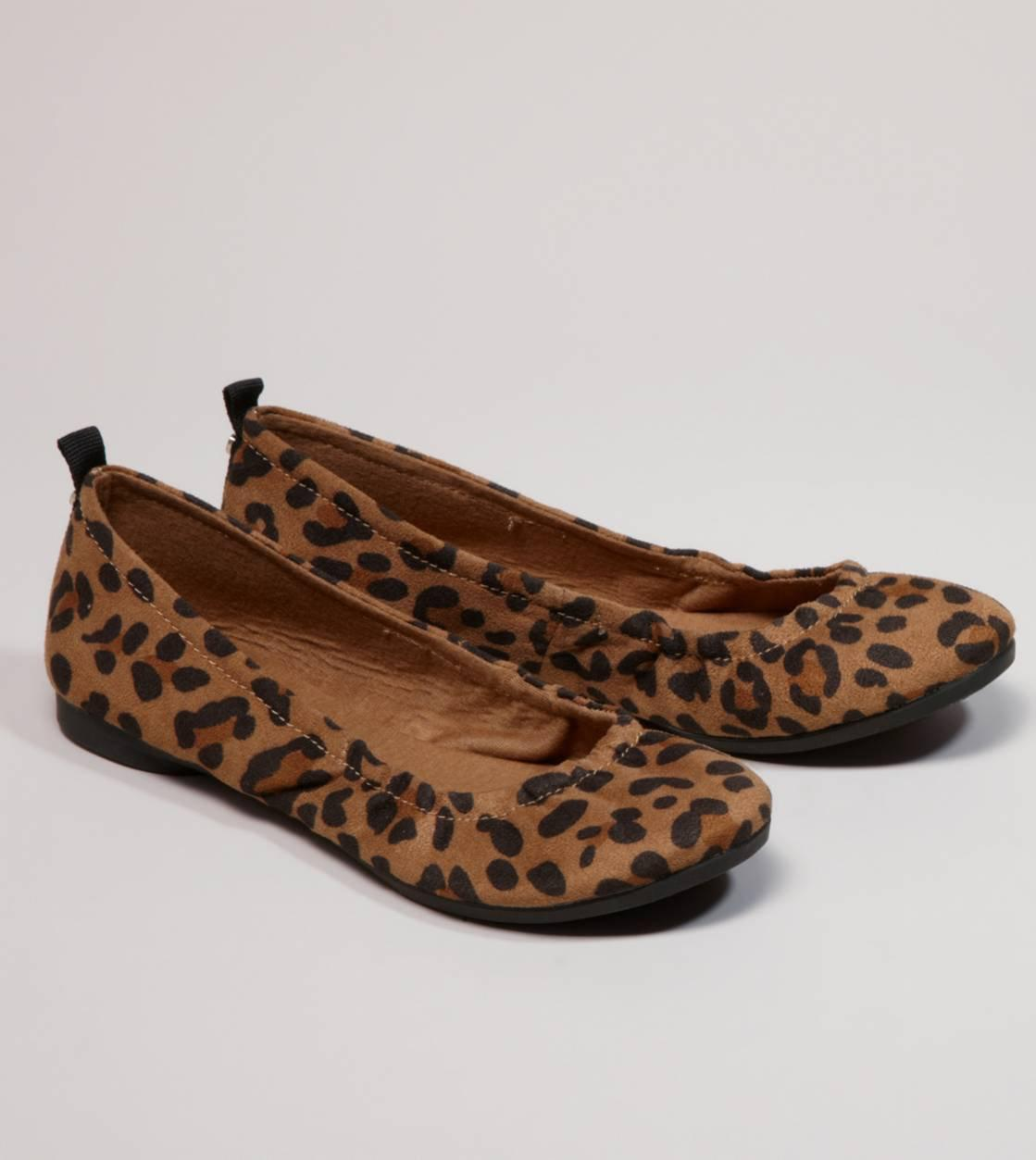 Aeo leopard print ballet flat american from american eagle