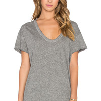 The Great The U-Neck Tee in Heather Grey