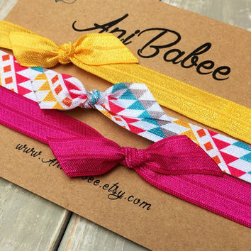 Tribal pattern baby headband, baby headband set, baby bow headband, infant headbands, girls, teen, toddler