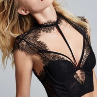 Love, Courtney by Nasty Gal Burn Black Lace Bustier
