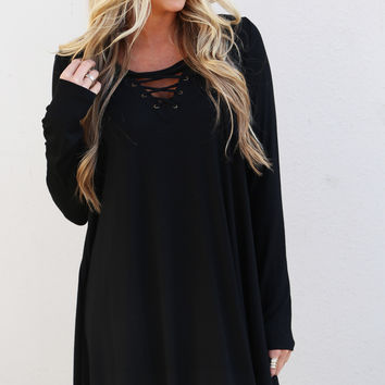 For The Love Of Lace Dress {Black}