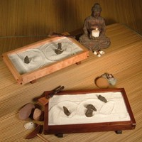 TABLETOP JAPANESE ZEN ROCK GARDEN by japanesegardensupply on Etsy
