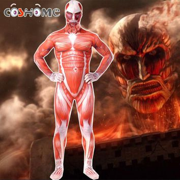 Cool Attack on Titan Coshome  Cosplay Costumes No  Halloween Party Muscle Jumpsuit Lycra Zentai Adult Bodysuit AT_90_11