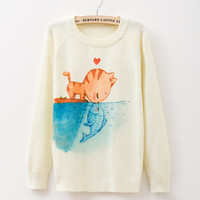 Vintage and Retro Wool Warm Sweater for Women