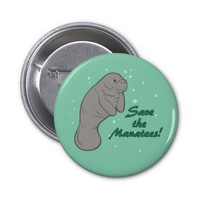 Save the Manatees! 2 Inch Round Button