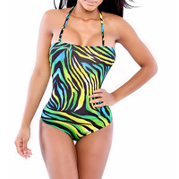 New Arrival Hot Beach Swimsuit Summer Stylish Sexy Spaghetti Strap Sleeveless Backless Print Swimwear Bikini [4919270916]