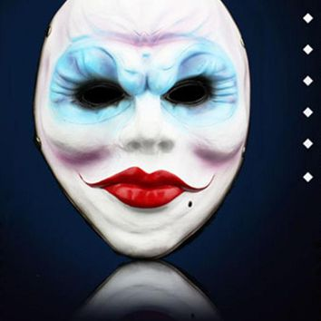 LMFONHS Halloween Horror Resin Full Face Masks The Game Harvest Day 2 Series Of Female Robbers Mask Masquerade Party Cosplay Props