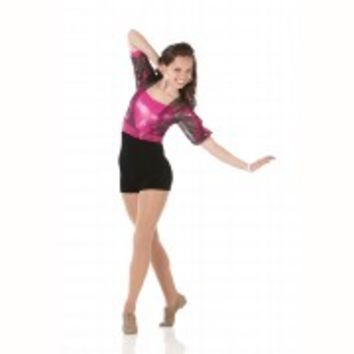 HAPPY Biketard Acro Ice Skating Baton Sequin Dance Costume Child/Adult Halloween
