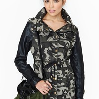 Nasty Gal Off Duty Anorak - Camo