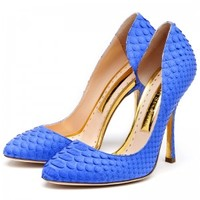 Rupert Sanderson | Delrose in Iris Python | High Heel Pumps