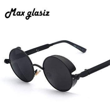 Maxglasiz Steampunk Retro Sunglasses