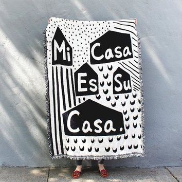 Mi Casa Woven Throw Blanket