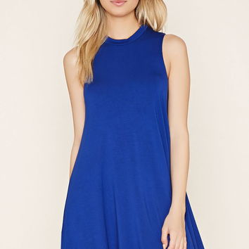 Mock Neck A-Line Dress
