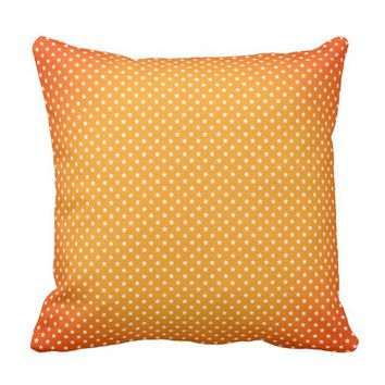 Stars Pattern Golden Orange Decorative Pillow