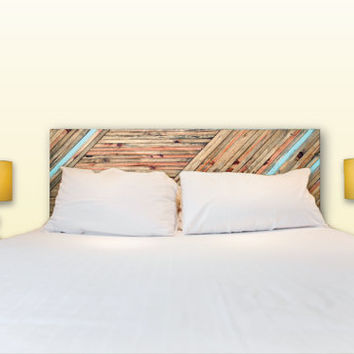 SALE Reclaimed Wood Queen Headboard with Paint