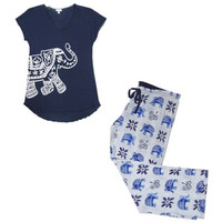 True Blue Elephant PJ Set