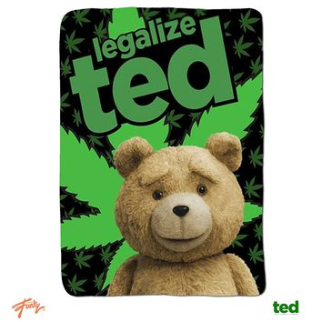 """Legalize Ted OFFICIAL 45""""x60"""" Fleece Throw Blanket"""
