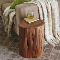 Maram Natural Tree Stump Accent Table