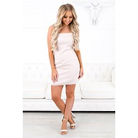 Places To Go Tie Back Dress (Blush)