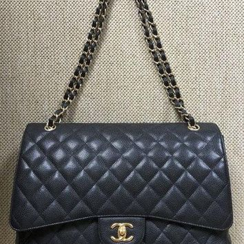 Chanel Timeless 2.55 Maxi XL Classic Flap Bag GHW