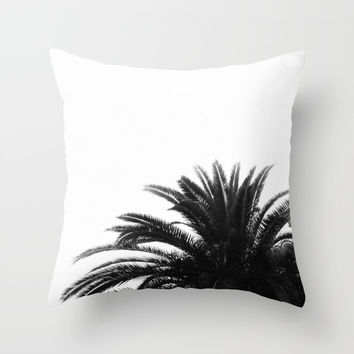 Palm tree Throw Pillow by ARTbyJWP