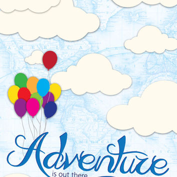 Baby Room Decor, Adventure is out there, Nursery Wall Art, New Born Gift, Adventure Nursery Decor, Baby Shower gift, Gender Neutral Decor