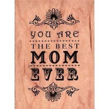 Wood Folding Card Best Mom Ever