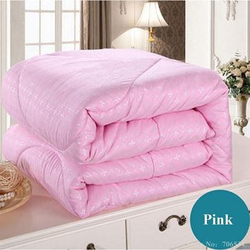 white pink beige mulberry silk comforter/blanket/bedspreads/duvet/bedclothes/quilt filler king queen full twin summer&winter