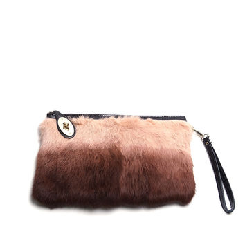 Carried Away Fur Clutch