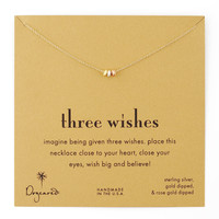 Three Wishes Pendant Necklace - Dogeared - Gold