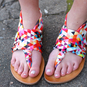 Geometric Beebop Sandal by DIRTY LAUNDRY {Multi}