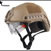 Military Airsoft Paintball Helmet Combat Tactical FAST Helmet MH type Dark Earth