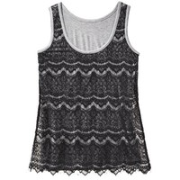 Mossimo® Women's Sleeveless Lace Tank Top - Assorted Colors