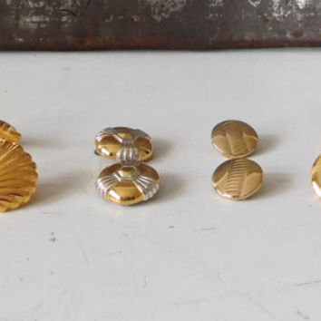 Silver Clip On Shell Earrings Gold Tone Screw Back Napier Liz Claiborne Vintage Jewelry Set