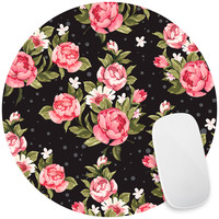 Roses on Black Mouse Pad Decal